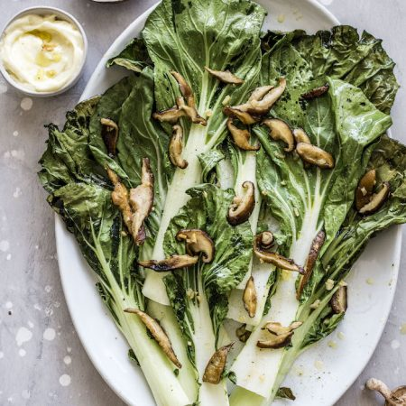 Garlic Ginger Bok Choy with Shiitake Mushrooms | thealmondeater.com