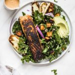 Spicy Chipotle Salmon Kale Salad The Almond Eater