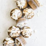 Toasted Coconut Carrot Cake Muffins | thealmondeater.com | #vegan