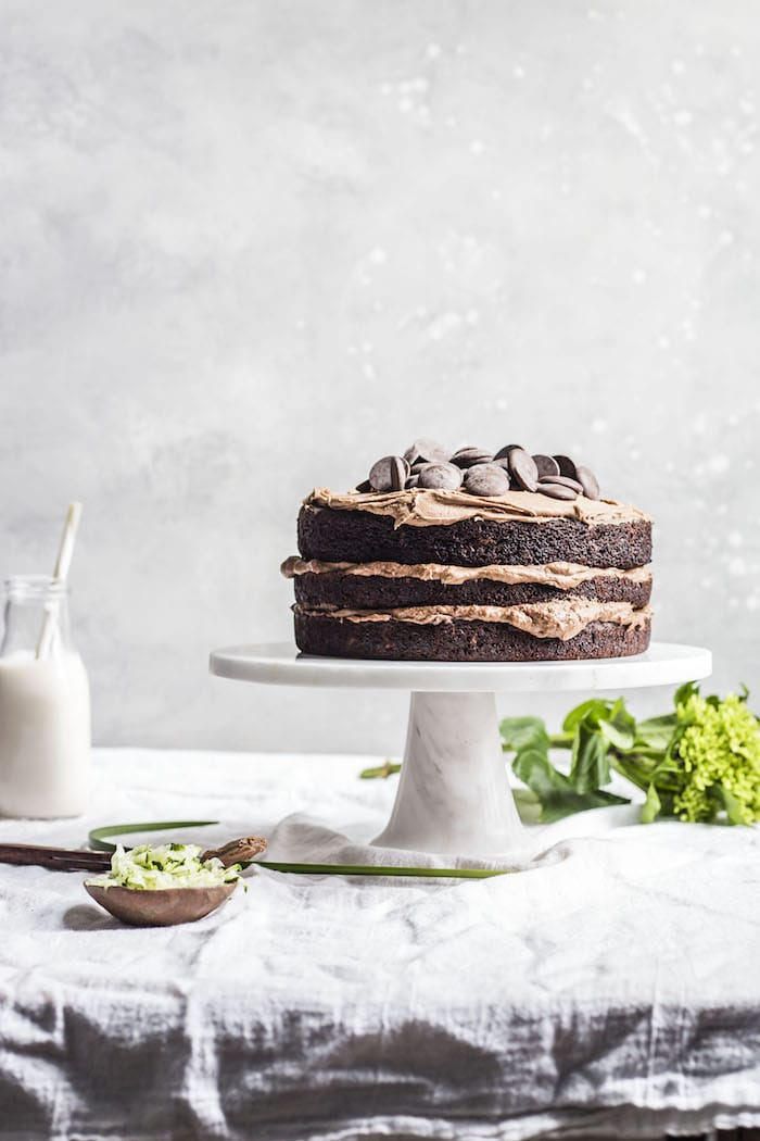 Vegan Chocolate Zucchini Cake | thealmondeater.com