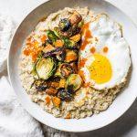 Cheesy Savory Oatmeal Breakfast Bowl   thealmondeater.com