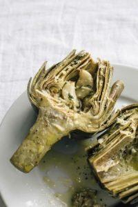 artichokes with garlic and parmesan