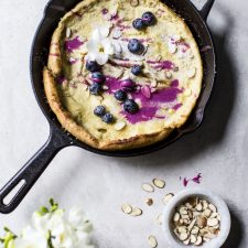 Almond Dutch Baby with Blueberry Glaze | thealmondeater.com