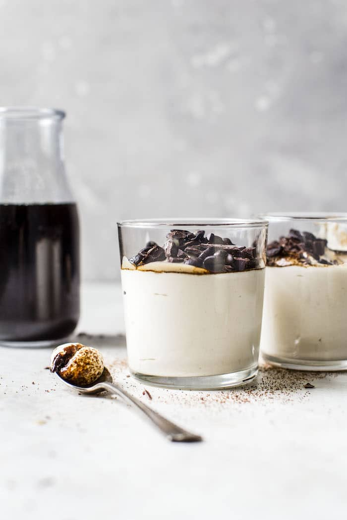 Cold Brew Tahini Mousse | thealmondeater.com
