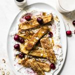 French Toast Sticks with Cherry Whipped Cream | thealmondeater.com