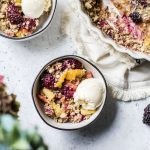 Blackberry Peach Buckwheat Crisp | thealmondeater.com