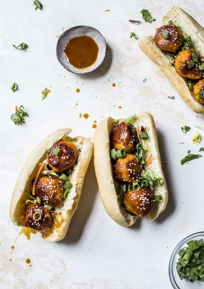 Teriyaki Cauliflower Sweet Potato Meatballs | #vegan | thealmondeater.com