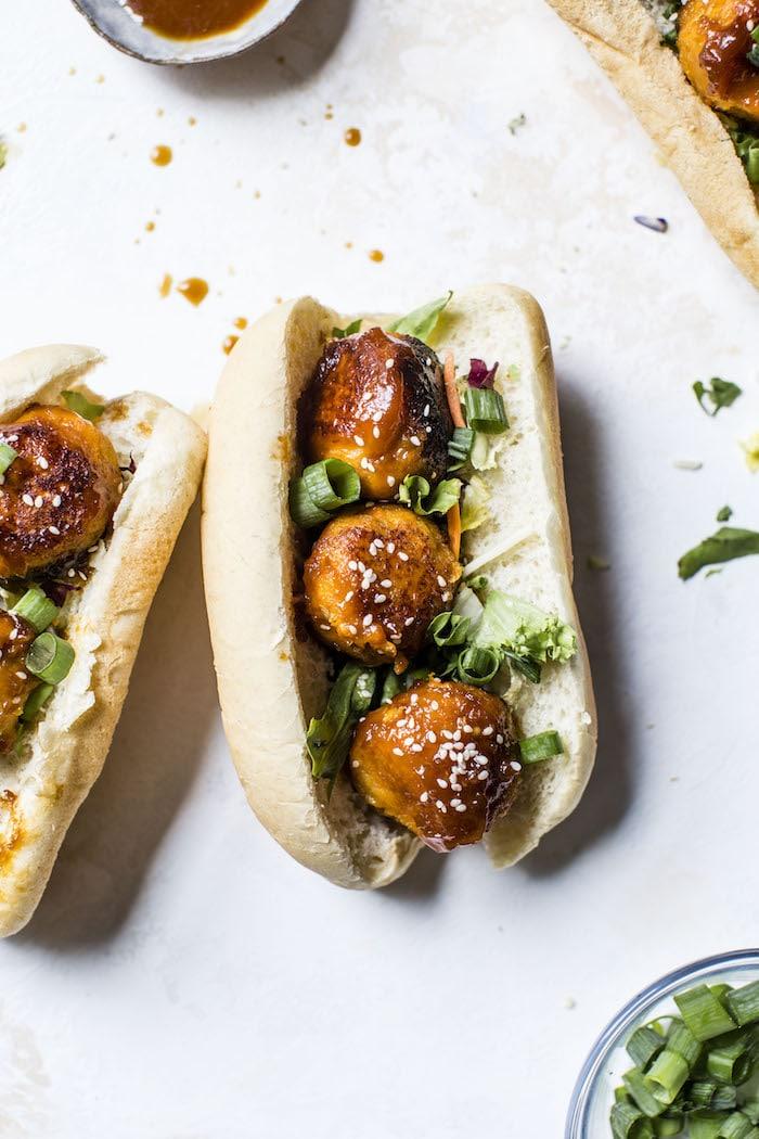 Teriyaki Cauliflower Sweet Potato Meatballs | thealmondeater.com