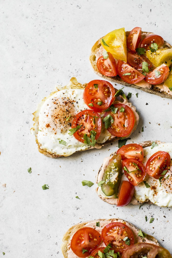 Tomato Breakfast Toast | thealmondeater.com