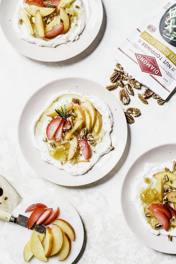Yogurt Stone Fruit Salad   thealmondeater.com