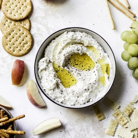 Black Pepper Whipped Feta | thealmondeater.com