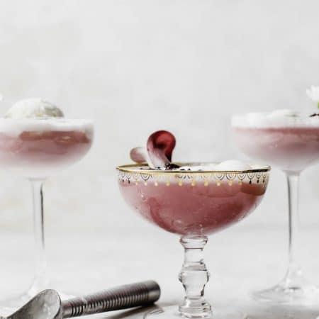Hibiscus Ice Cream Float | thealmondeater.com