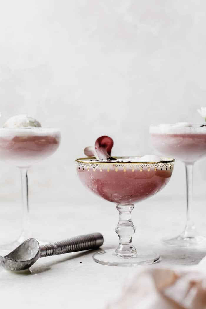 Hibiscus Ice Cream Float | thealmondeater.com