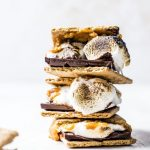 Indoor Pumpkin S'mores made with pumpkin butter! | thealmondeater.com