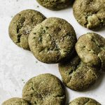 Matcha Snickerdoodles made with matcha powder and cinnamon! | thealmondeater.com