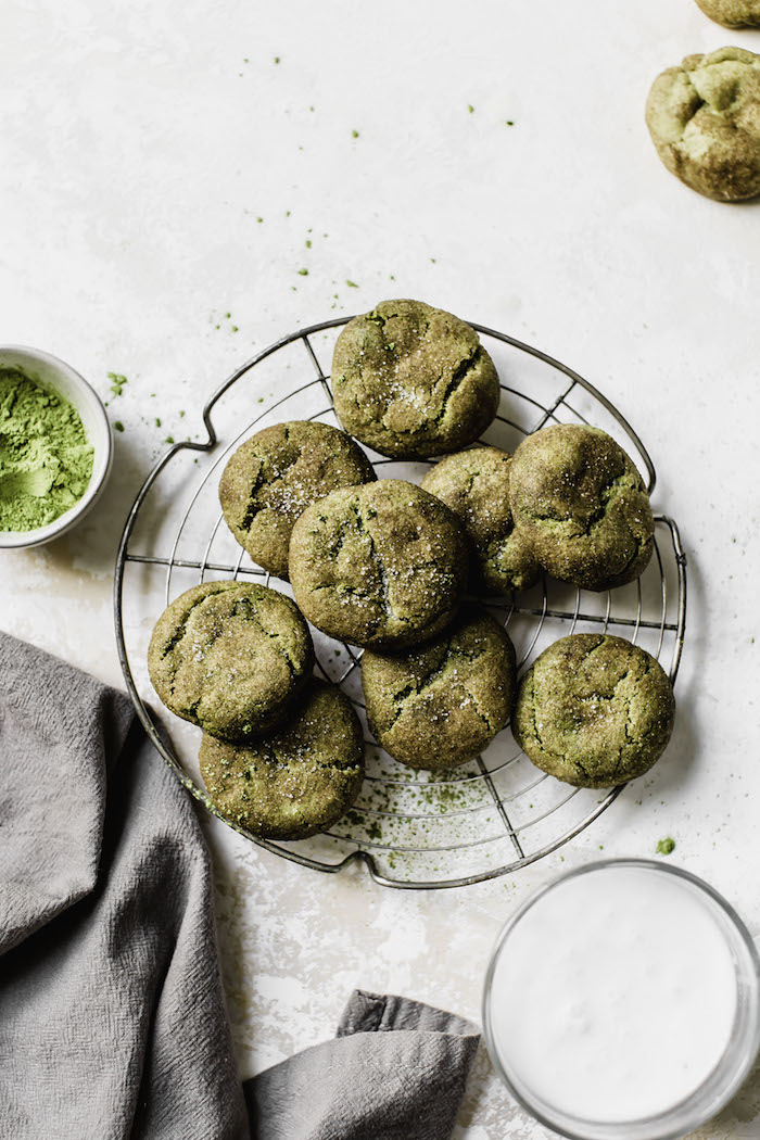Matcha Snickerdoodles | thealmondeater.com