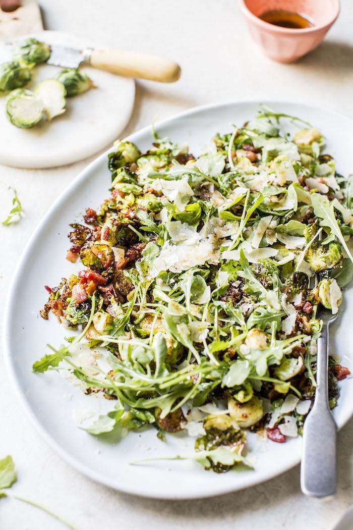 Brown Butter Brussels Sprouts Salad | thealmondeater.com