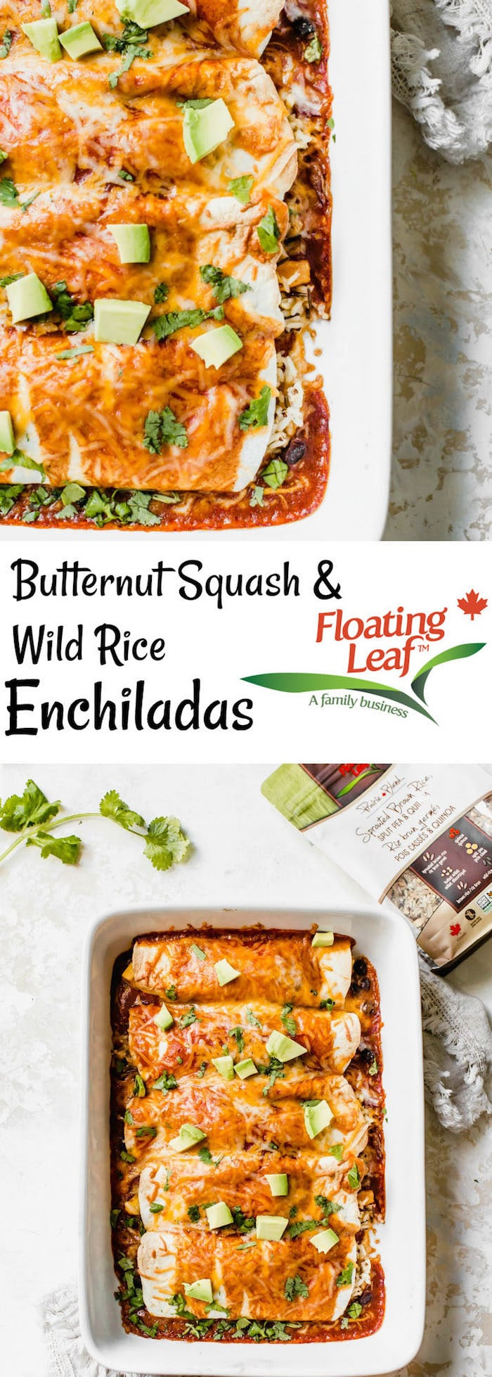 Butternut Squash Wild Rice Enchiladas | a tasty vegetarian recipe that's perfect for #meatlessmonday | thealmondeater.com