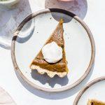 Vegan Walnut Pumpkin Pie | thealmondeater.com