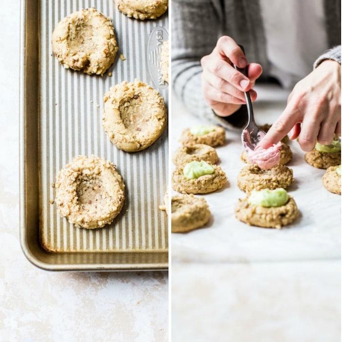Buttercream Walnut Thumbprint Cookies   thealmondeater.com