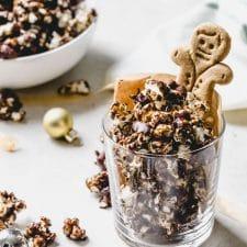 Chocolate Gingerbread Popcorn | thealmondeater.com