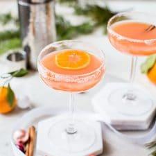 Cranberry Orange Cocktail | thealmondeater.com