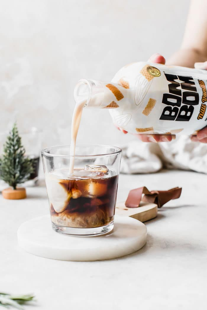 Rosemary Vanilla Cold Brew Cocktail | thealmondeater.com