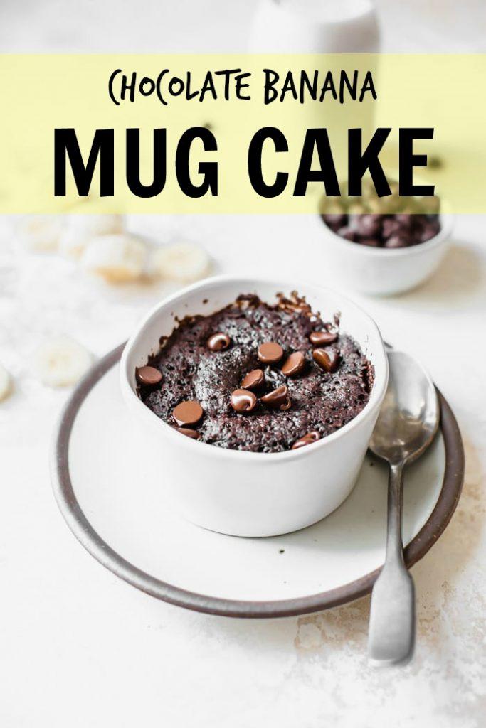 chocolate banana mug cake