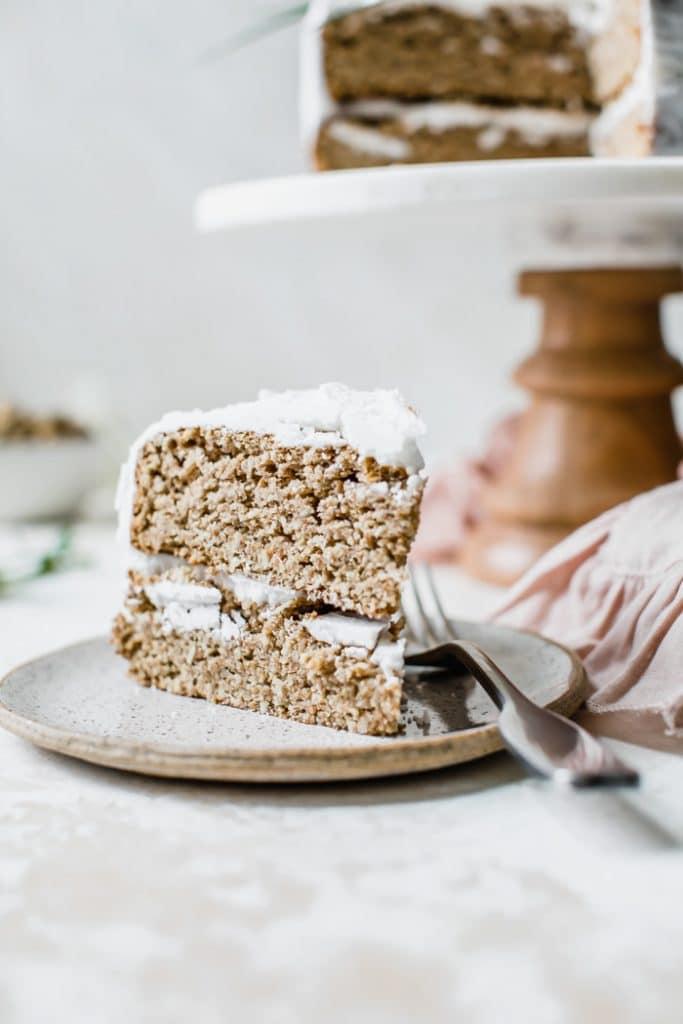 Healthy Vegan Coconut Cake | thealmondeater.com