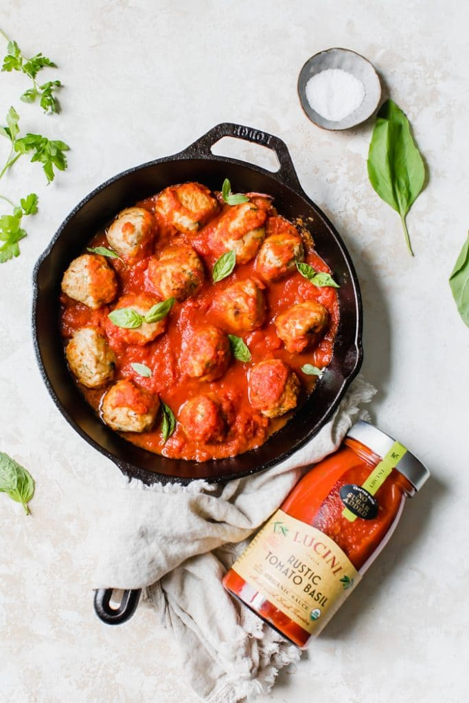 One skillet paleo meatballs | thealmondeater.com