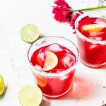Hibiscus Margaritas that require just 3 ingredients!