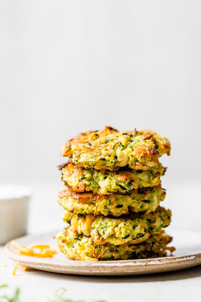 a stack of fritters on a plate