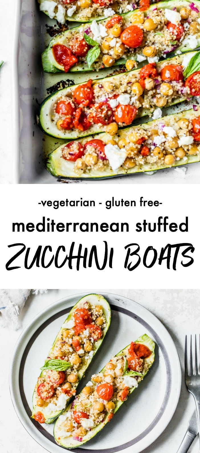 Stuffed zucchini filled with quinoa