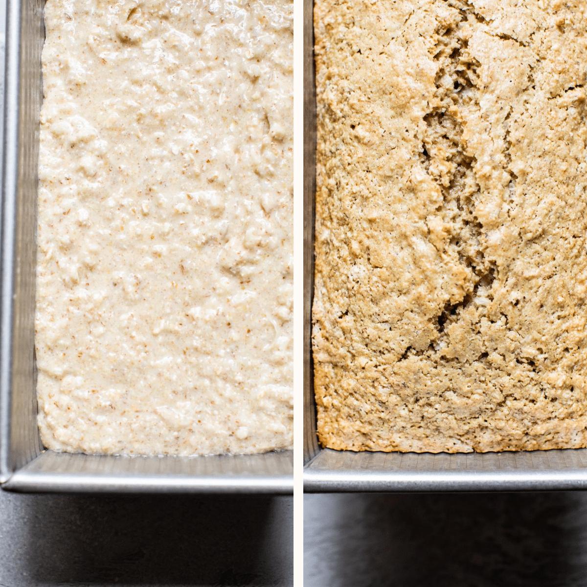 bread in a bread pan