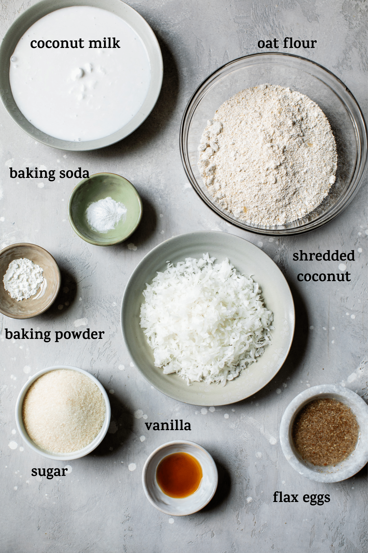 bread ingredients with text overlay