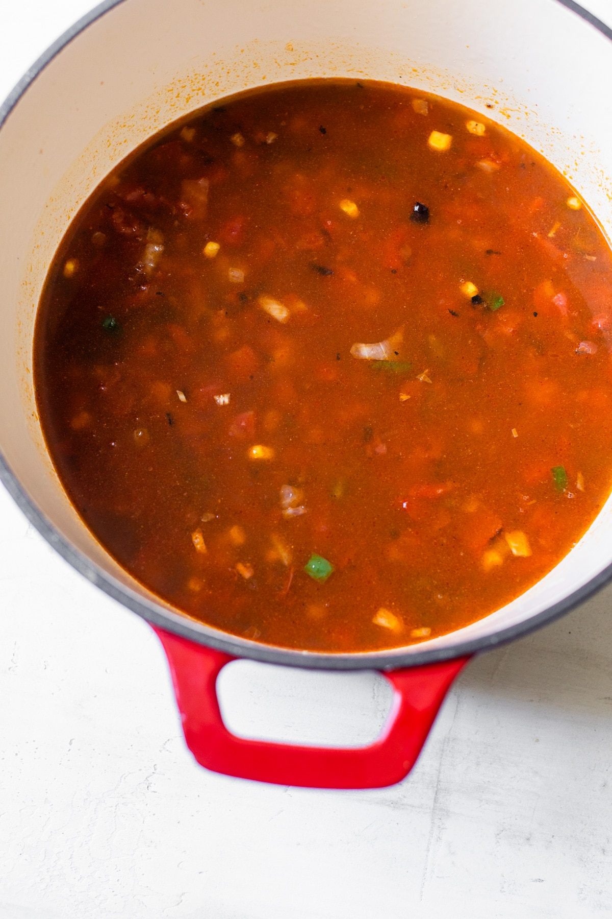 soup in a dutch oven