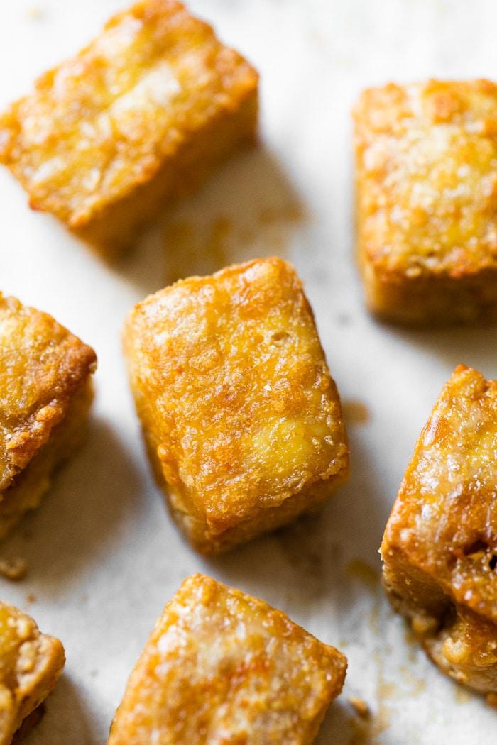 close up of tofu