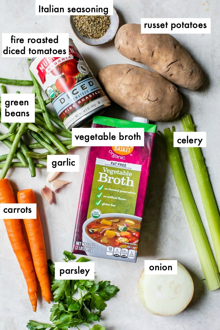 ingredients on a table with overlay text