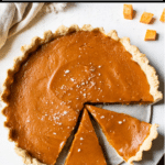 pie with text overlay