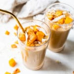 squash smoothie in a glass