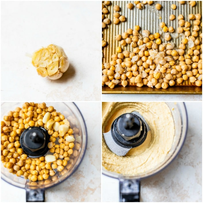 step-by-step how to make hummus
