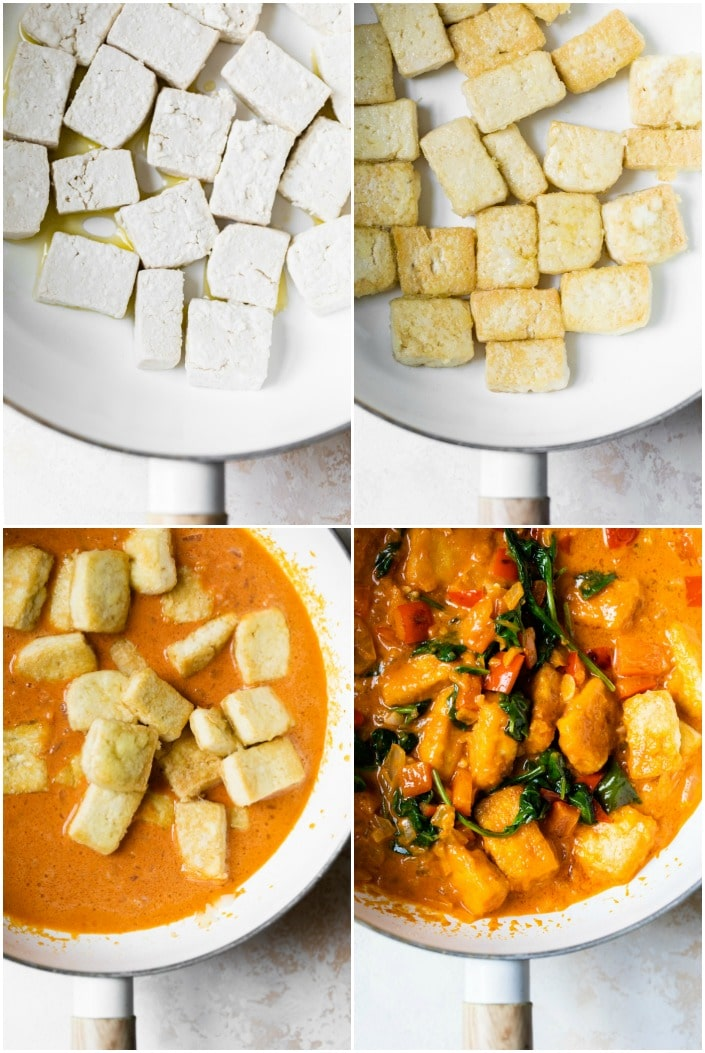 how to make tofu curry