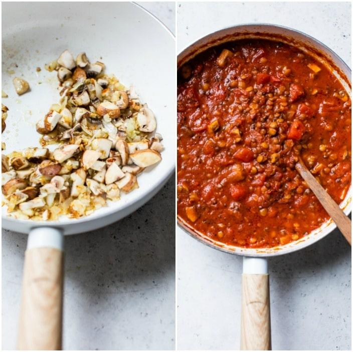 how to make lentil bolognese