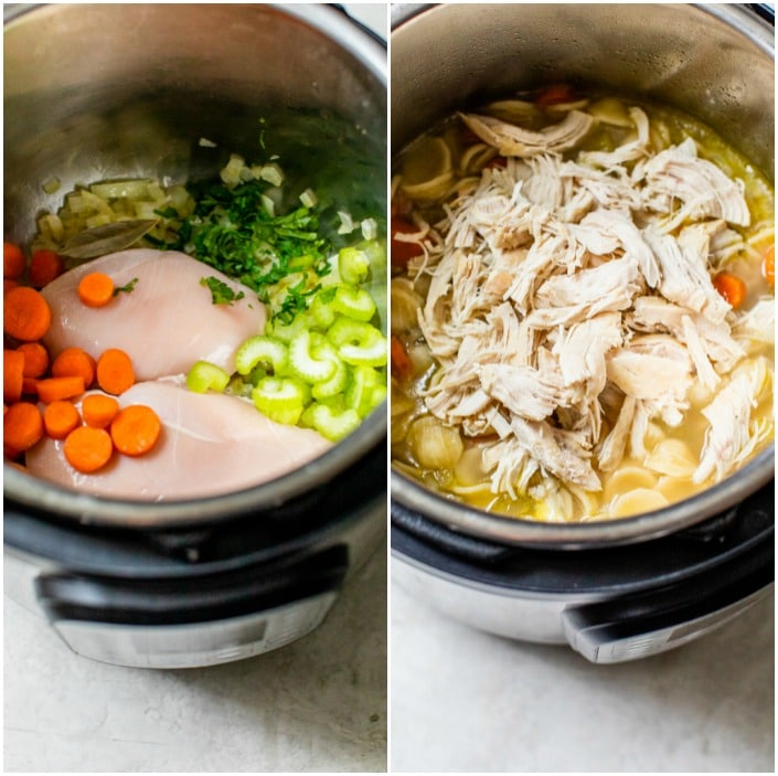 how to make chicken soup in the instant pot