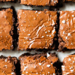 brownies with crackly tops and sea salt