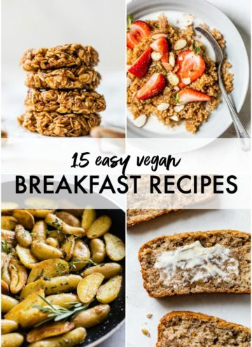 collage of vegan breakfast recipes