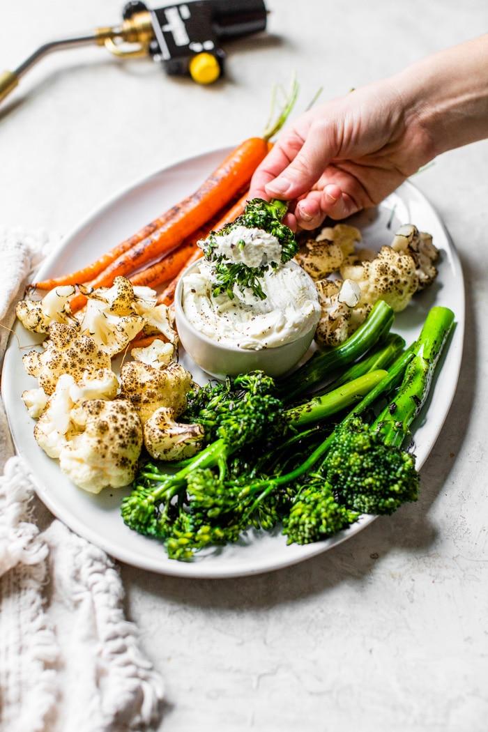 vegetables on a platter