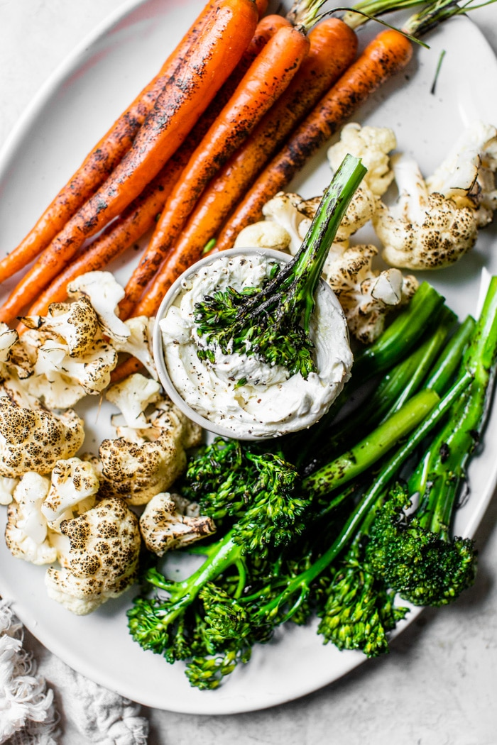 vegetables with cream cheese dip