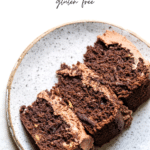 slice of chocolate cake with text overlay