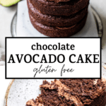 chocolate cake with text overlay